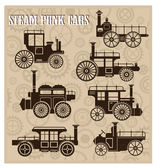Steam-punk cars — Stock Vector
