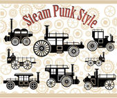 Vintage cars — Stock Vector
