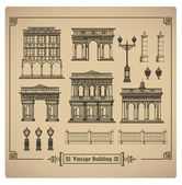 Retro buildings — Vector de stock