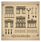 Retro buildings — Stock Vector