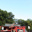 Red Shinto shrine — Stock Photo
