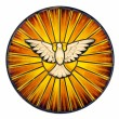 Holy Spirit Stained Glass — Stock Photo