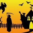 Royalty-Free Stock Vector Image: Halloween scene