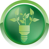 Eco bulb icon — Stock Vector