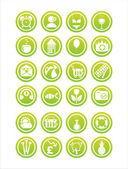 Green web signs — Stock Vector