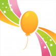 Birthday balloon background — Stock Vector