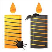 Halloween candles — Stock Vector
