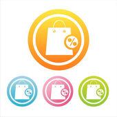 Renkli alışveriş torbaları işaretleri — Stok Vektör