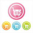 Colorful shopping baskets signs — Stock Vector #6949097