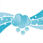 Cloud with snowflakes background — Stock Vector