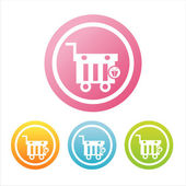 Colorful shopping baskets signs — Stock Vector