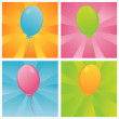 Colorful birthday balloons backgrounds — Stock Vector
