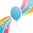 Birthday balloon background — Stock Vector #6973338