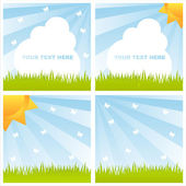 Shiny summer landscapes — Stock Vector