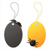 Halloween tags — Stock Vector