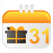 Halloween calendar icon — Stock Vector