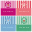 Cute ice cream frames — Stock Vector