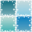 Abstract winter backgrounds — Stock Vector