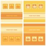 Cute pumpkins cards — Stock Vector