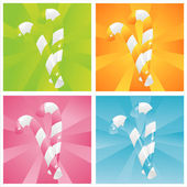 Fondos coloridos dulces — Vector de stock