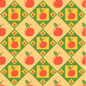 Colorful apples pattern — Stock Vector