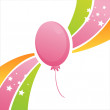 Birthday balloon background — Stock Vector #7101898