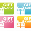 Stock Vector: Colorful gift cards