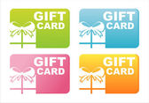Colorful gift cards — Stock Vector
