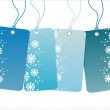 Winter sale tags — Stock Vector