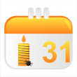 Royalty-Free Stock Imagen vectorial: Halloween calendar icon