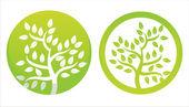 Green floral symbols — Stock Vector