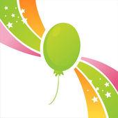 Tło urodziny balon — Wektor stockowy