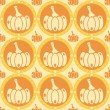 Pumpkins pattern — Stock Vector