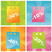 Colorful sale bags backgrounds — Stock Vector