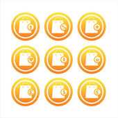 Bolsas naranja señales — Vector de stock