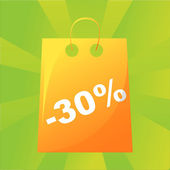 Shopping bag background — Stock Vector
