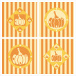 Cute pumpkins backgrounds — Stock Vector