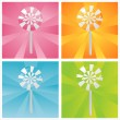 Stock Vector: Colorful lollipops backgrounds