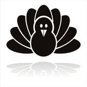 Black turkey bird icon — Stock Vector