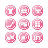 Pink shopping signs — Stock Vector