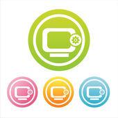 Färgglada monitor tecken — Stockvektor