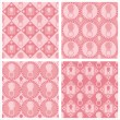 Cute pink baby pacifiers pattern — Stock Vector