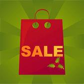 Christmas sale bag background — Stock Vector