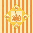 Pumpkins background — Stock Vector