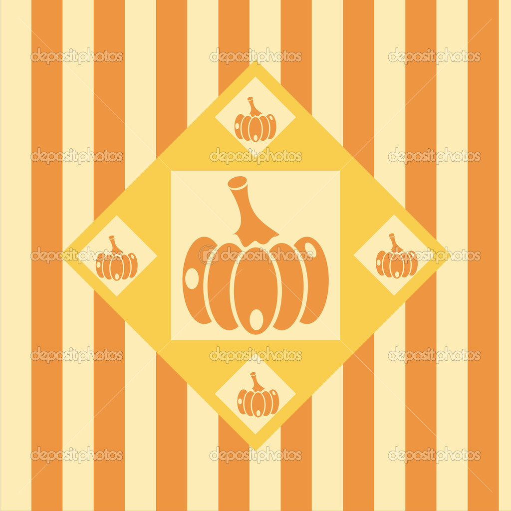Cute pumpkins background — Stock Vector #7627317