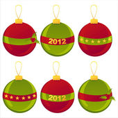 Colorful christmas balls — Vetorial Stock