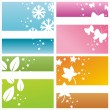 Stock Vector: Colorful seasonal backgrounds