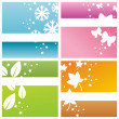 Colorful seasonal backgrounds - Stock Vector