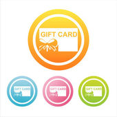 Colorful gift cards signs — Vector de stock