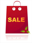 Christmas sale bag isolated on white — Stock Vector